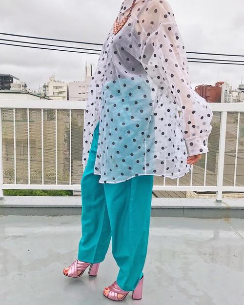 Vintage polka dots see-through shirt ( ヴィンテージ  ポルカドット シースルーシャツ)