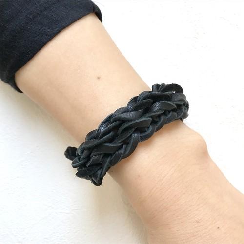 double chain ブレスレット〈ブラック〉