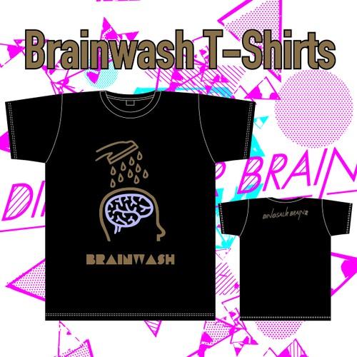 """DINOSAUR BRAIN""""Brainwash""""Tシャツ"""