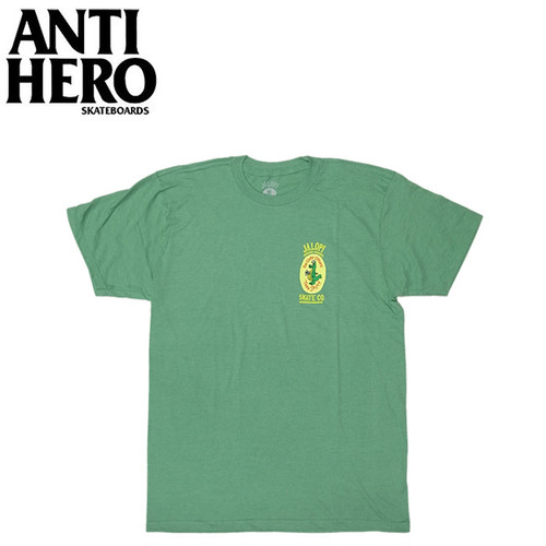 【クリックポスト200-対応】ANTIHERO JALOPI SKATE CO. S/S TEE(KELLY/HEATHER)