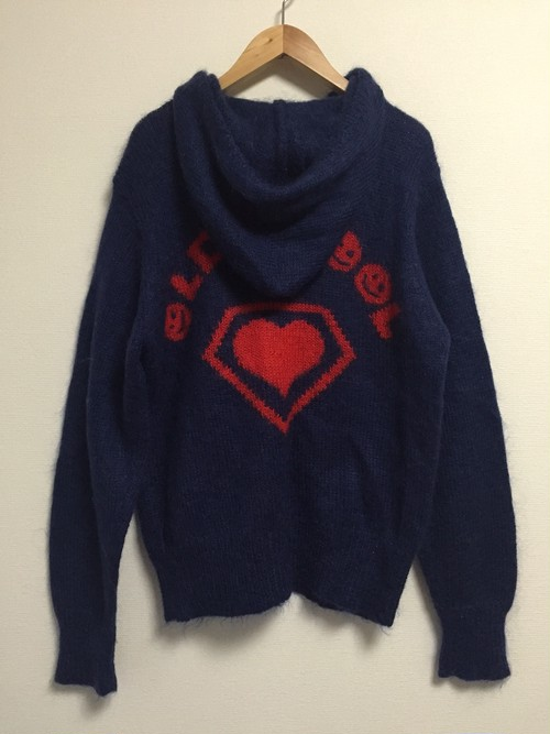 late90's SUPER LOVERS mohair knit parka