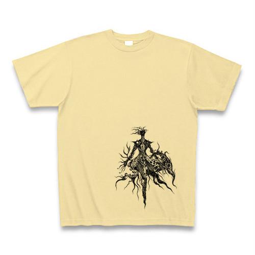 AlphactオリジナルTシャツ2 ライトイエロー