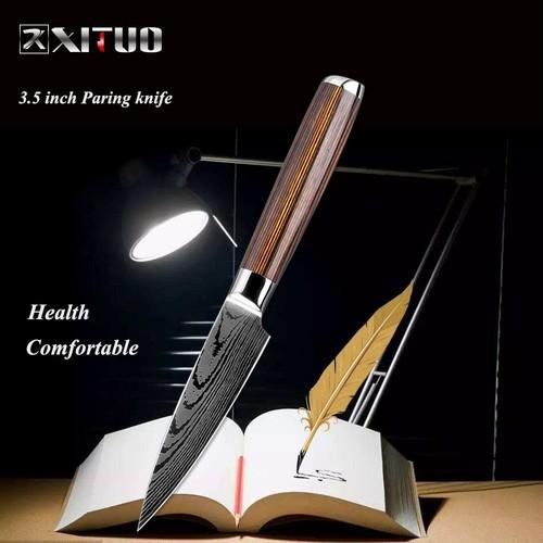 XITUO  ペティナイフ 刃渡り 9.5cm  7cr17  ks20082405