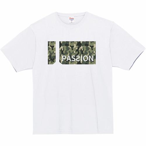 [PASSION] 7.4oz スーパーヘビー military Tシャツ[ホワイト]