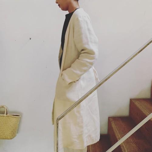 jiji ラミーリネンウール羽織り 白