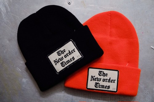 "TOP BOY ""The New Order Times"" KNIT CAP"