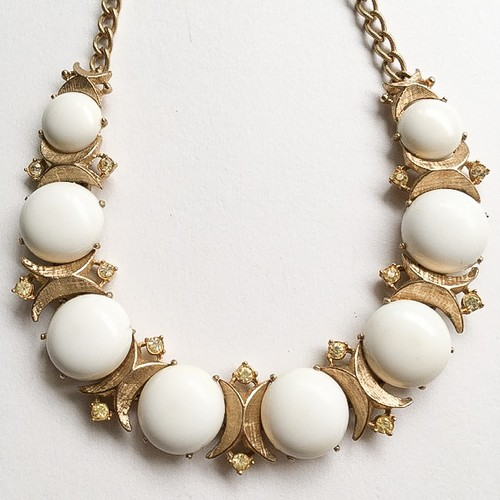 """Sarah Coventry"" Snow Princess necklace[n-203]"