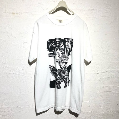 """dib"" SILK-SCREEN PRINTING  T-SHIRT   【Distortion Valley Strange Bird 】"