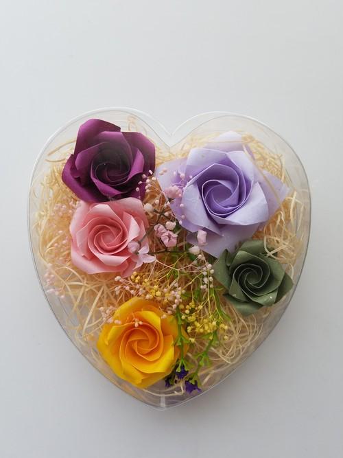 折り紙のバラ芳香浴グッズ