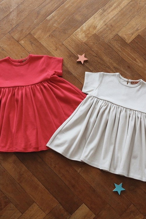 Little dress   BEIGE&RED