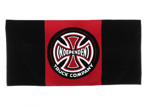 Independent Banner Towel Black Red インデペンデント バスタオル