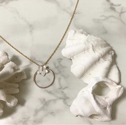 14kgf  ring  necklace flower