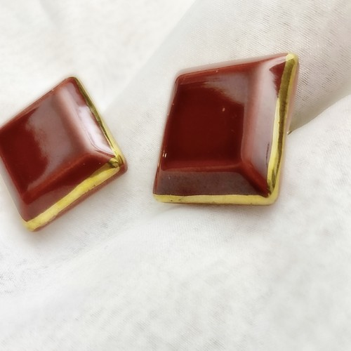 80s vintage square earring