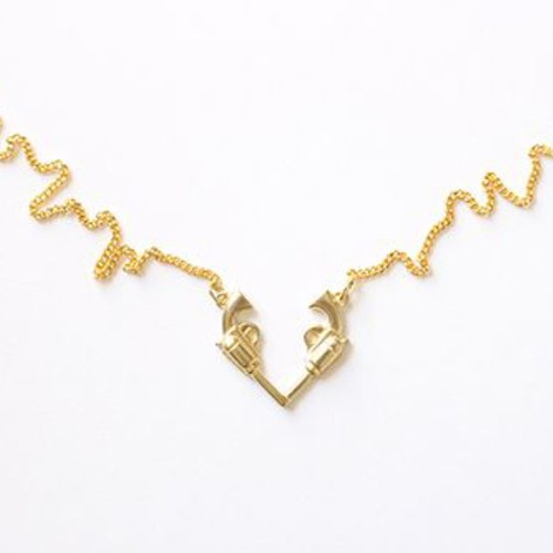 Gun Heart Necklace 【Aquvii】