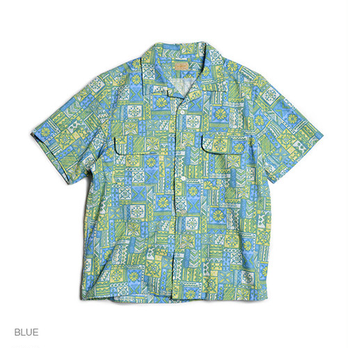 GOWEST・OUT OF BORDER S/SL SHIRTS/70's PRINT FABRIC