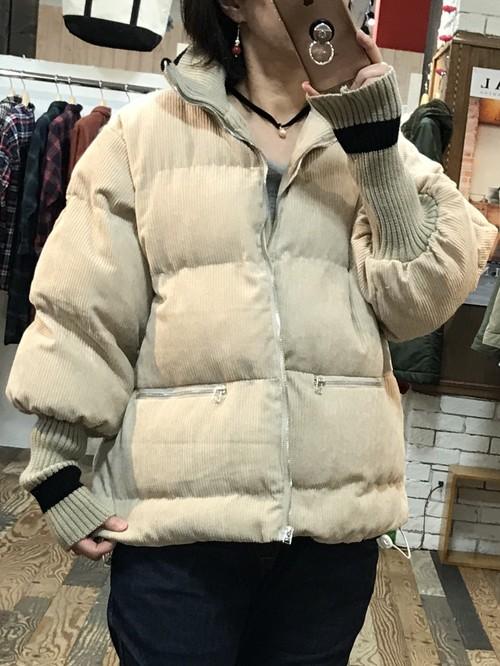 中綿ボンディングジャケット(ベージュ)