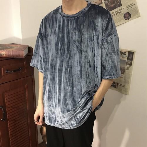 クラッシュベロア調Tシャツ BL5961
