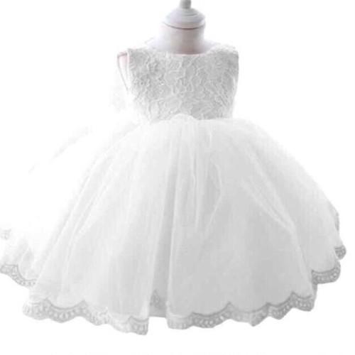 【送料無料】ホワイト チュール ベビードレス 子供ドレス フォーマルドレス 入園式 卒園式 発表会 結婚式 入学式 卒業式 七五三 パーティードレス