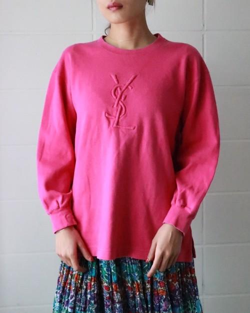 YSL pink logo pullover