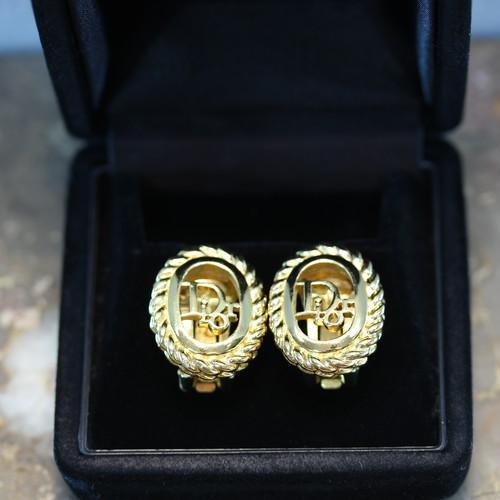 2000000027456 Christian Dior LOGO DESIGN EAR CLIPS/クリスチャンディオールロゴデザインイヤリング