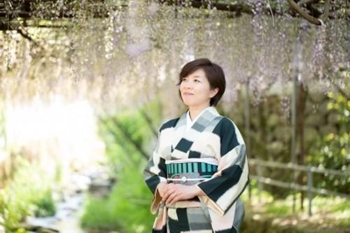 【花とお着物フォト】 藤の花を楽しむ着物散歩撮影会