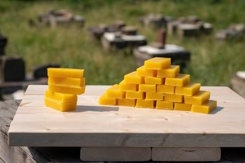 山口県産熟成はちみつのミツロウ 無精製 1ブロック10g