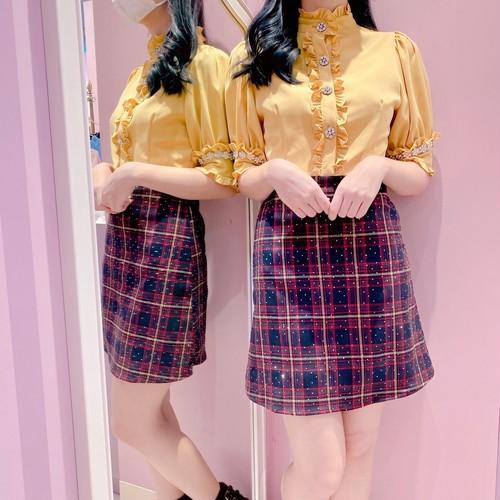 【Sister Jane】Tempo Check Embellished Mini Dress