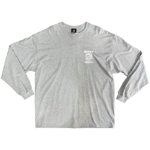 【YBC】RUGBY SKULL Back Print LongT-Shirt Gray