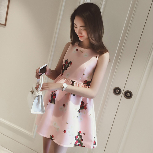 no sleeve floral long dress 1419