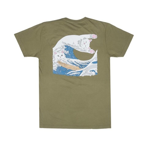 RIPNDIP - The Great Wave Of Nerm Tee (Olive)