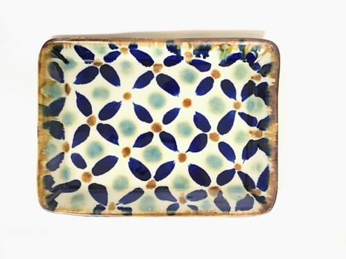 陶器 角皿 (エドメ陶房)