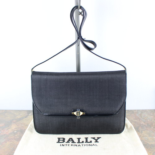 .BALLY HORSE HAIR SHOULDER BAG MADE IN ITALY/バリーホースヘアショルダーバッグ 2000000040561