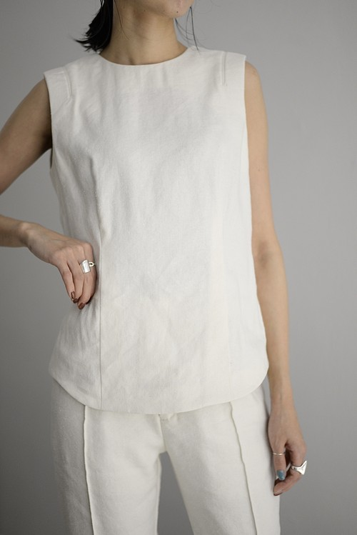 YOHEI OHNO / Back Open Sleeveless Top (2color)