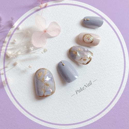 Pukeネイル発送無料 [No.219] 天然石可愛い色❁♡♡・♡v♡ジェイルネイルチップ