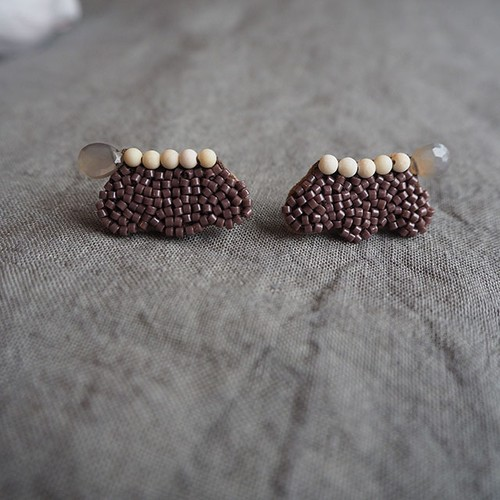 Scallop Beads Earrings