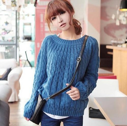 秋冬 ニット レディース セーター ケーブル編み トップス 長袖 9色 ざっくりニット ふんわり あったか 体型カバー 5312