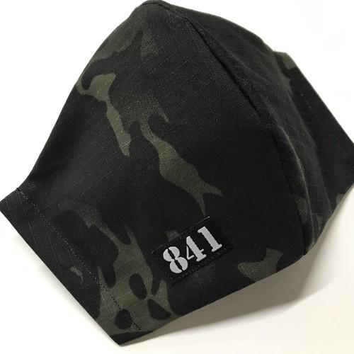 【841迷彩マスク】立体マスク multicam black ブラックマルチカム