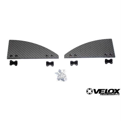 VERUS ENGINEERING(VELOX):A0098A:SUBARU WRX カーボンサイドスプリッターキット用ウイングレットセット