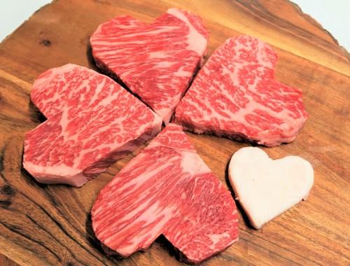 【人気商品】国産牛ハート型サーロインステーキ4枚(本州送料込) S-55