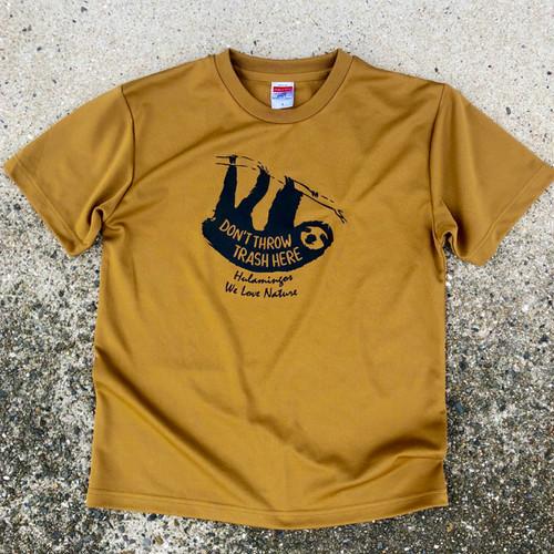 ナマケモノTシャツ( DON'T THROW TRASH HERE )