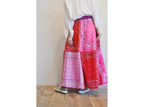 【RehersalL】bandanna flare skirt(red E) /【リハーズオール】バンダナフレアスカート(レッドE)