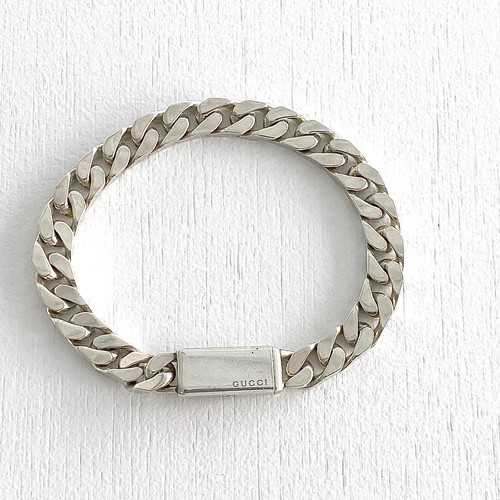 GUCCI silver chain bracelet A
