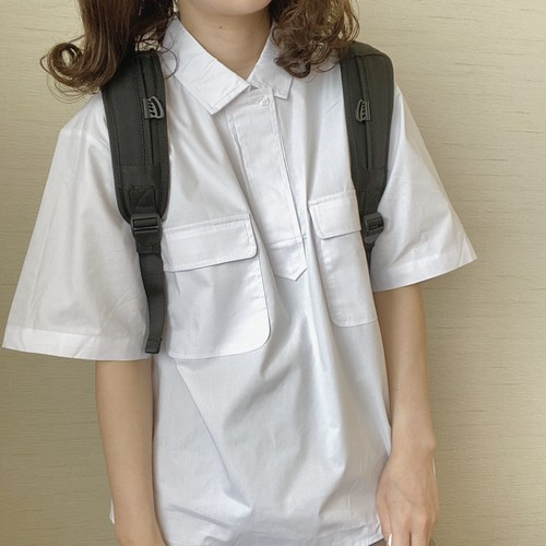 simple pocket shirts[6/17n-10]