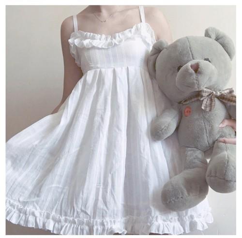 白薔薇の少女 キャミワンピ