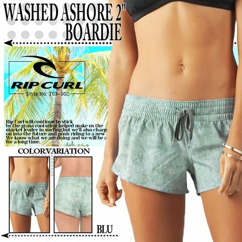 "T03-502 リップカール 新作 水着 ボードショーツ WASHED ASHORE 2"" BOARDIE レディース プール 海 RIP CURL"