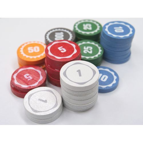 テンデイズゲームズオリジナル木製コイン100枚セット