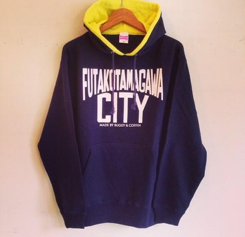 FUTAKOTAMAGAWA CITY プルオーバーパーカー
