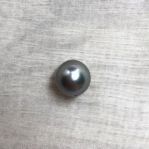 先着1名様 黒蝶真珠 タヒチパール セミラウンド系 貫通穴 10.5mm 1粒