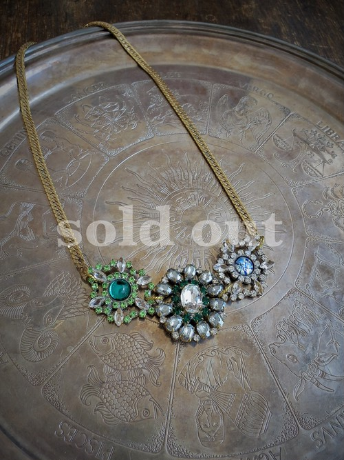 vintage necklace bijoux <ncFB-3RB2>
