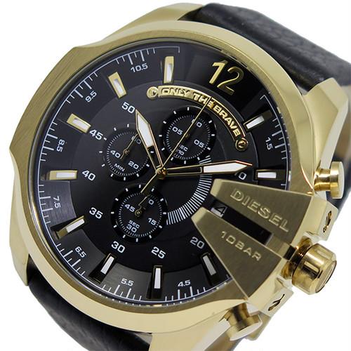 ディーゼル DIESEL 腕時計 DZ4344 メンズ メガチーフ MEGA CHIEF クオーツ クロノグラフ ブラック ブラック